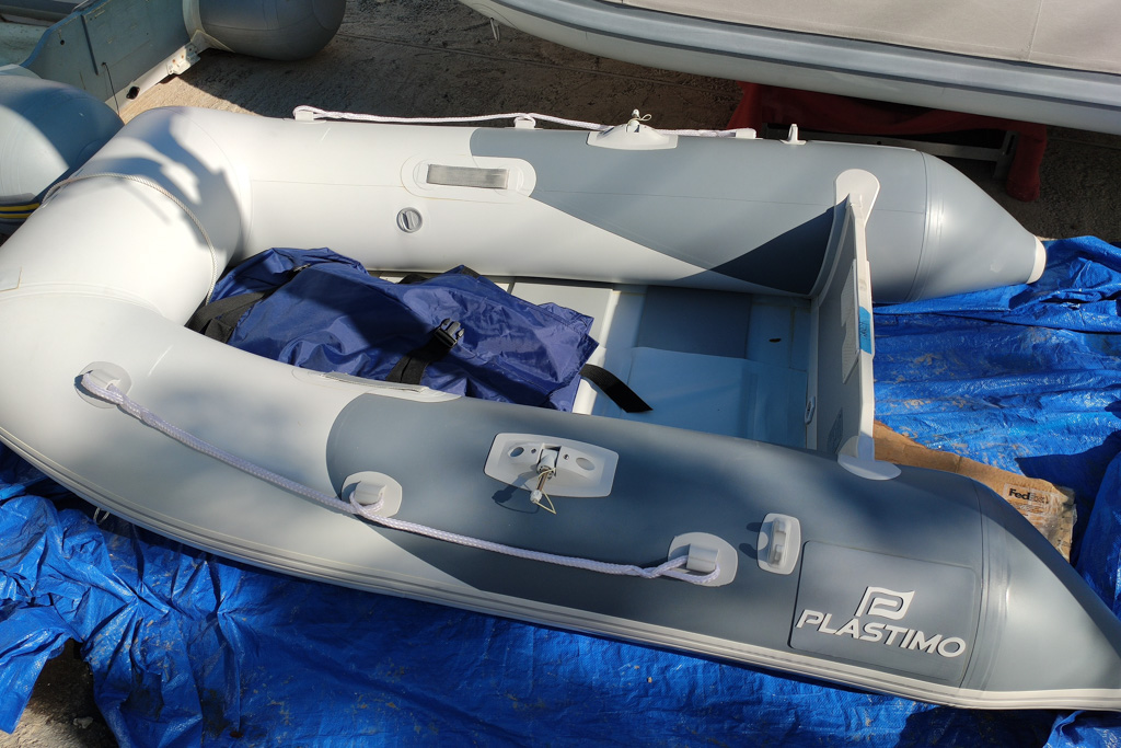 Nearly new budget dinghy and outboard combo
